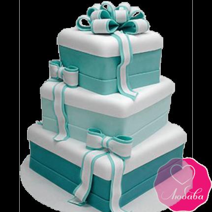 Торт свадебный с бантами №2262