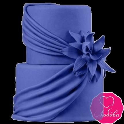 Торт свадебный фиолетовая вуаль №2263