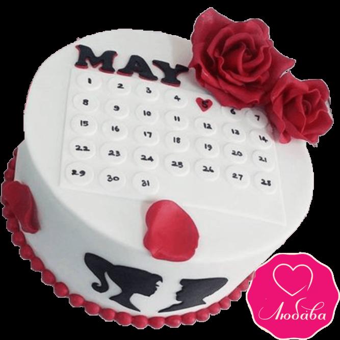 Торт свадебный календарь №2278