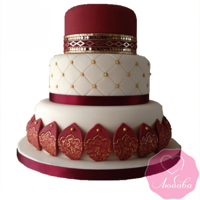 Торт свадебный в индийском стиле №2414