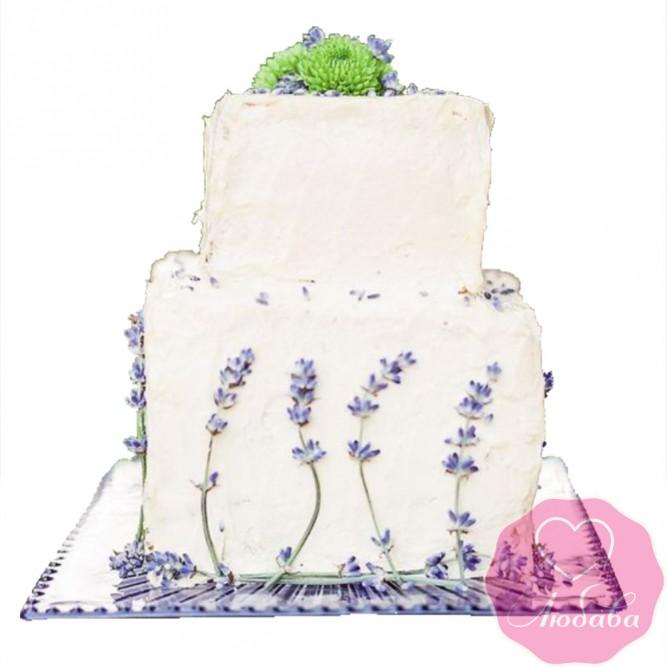 Торт свадебный в прованском стиле №2450