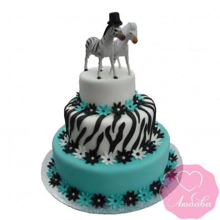 Торт свадебный зебры №2489