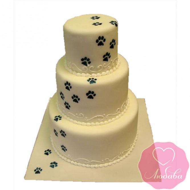 Торт свадебный с лапками №2493