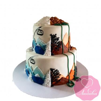 Торт свадебный горы №2562
