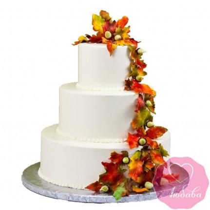 Торт свадебный осенний №2642