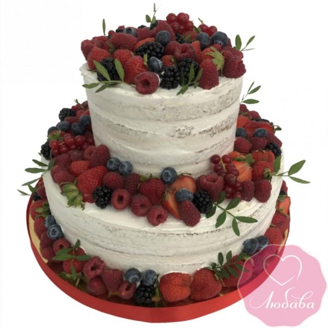 Торт свадебный ягодный №2644