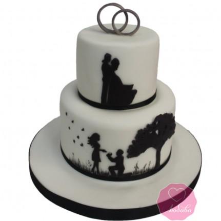 Торт свадебный жених и невеста №2751