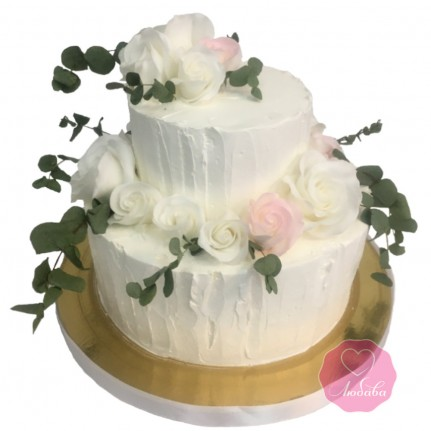 Свадебный торт без мастики №2794