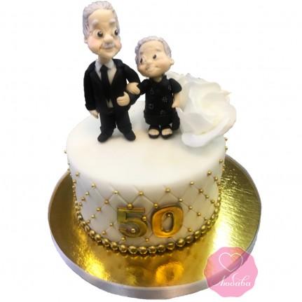 Торт на золотую свадьбу №2801